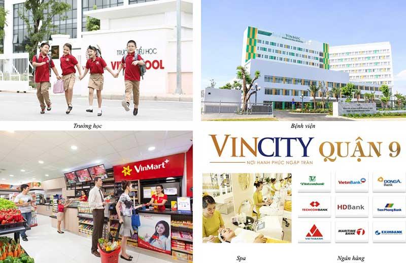tiện ích dịch vụ hoàn hảo chỉ có tại dự án biệt thự Vincity Vingroup Quận 9