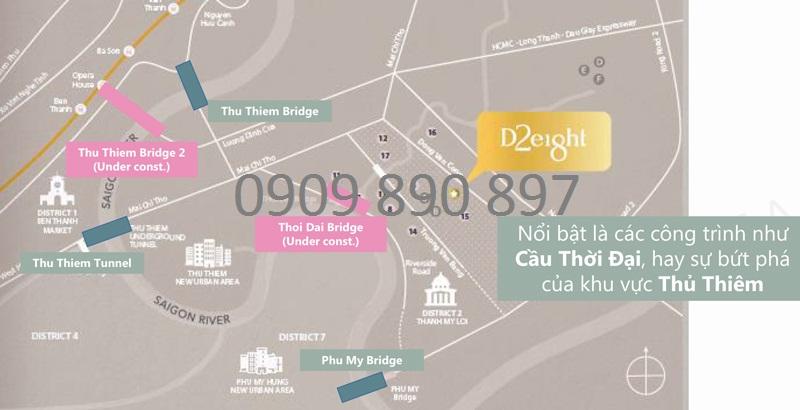 Vị trí dự án nhà phố D2Eight