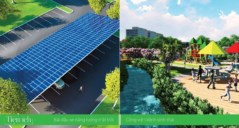 bãi đậu xe và công viên sinh thái