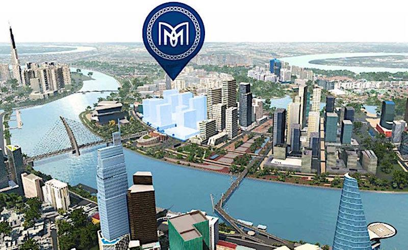 Metropole nằm giữa chân cầu Thủ Thiêm 2