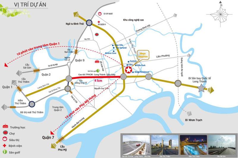 vị trí dự án Sapphire Khang Điền Quận 9