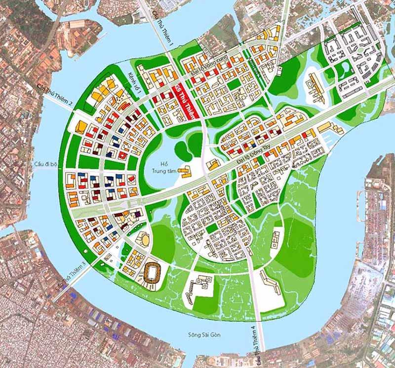 Vị trí dự án GS Xi Thủ Thiêm Quận 2