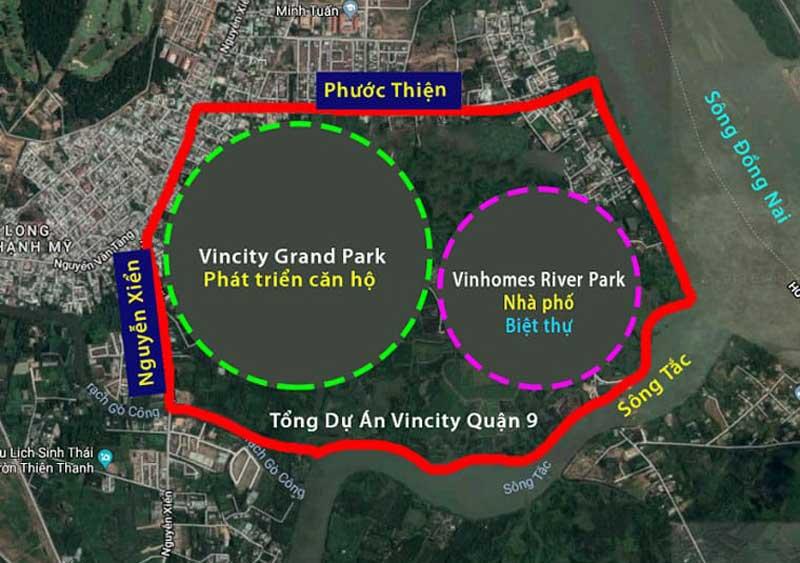 Vị trí Vincity Quận 9 trên Google Maps