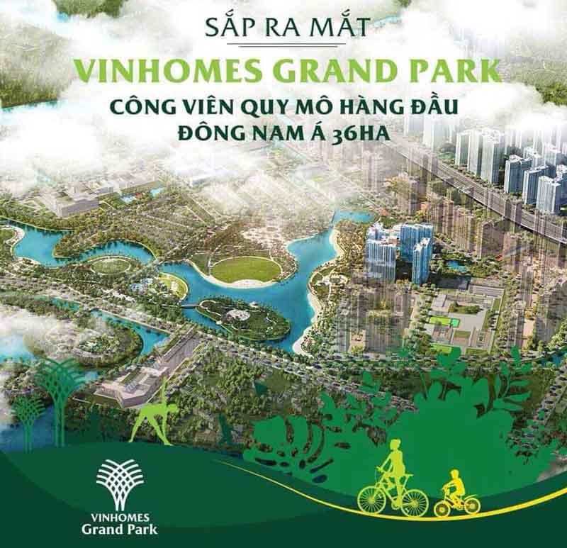Công viên Vinhomes Grand Park 36ha lớn nhất Đông Nam Á