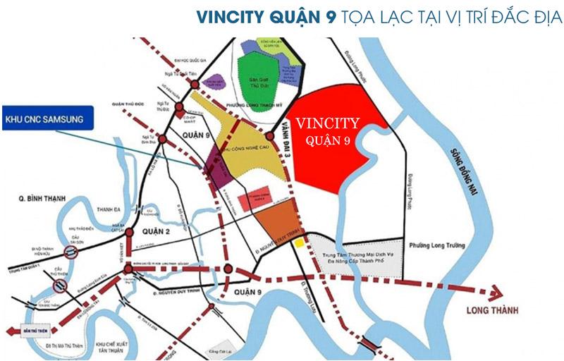 Vị trí dự án Vincity Grand Park Quận 9