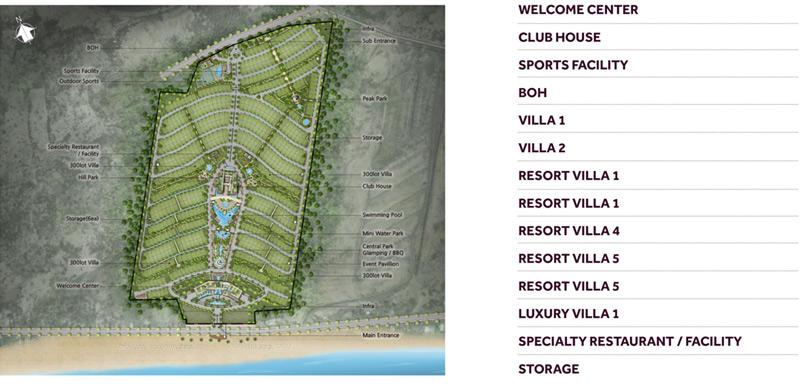 Mặt bằng tổng thể dự án biệt thự Nova Hill