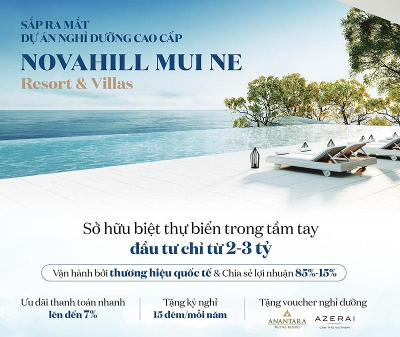 mở bán biệt thự nghỉ dưỡng tại dự án Nova Hill Mũi Né