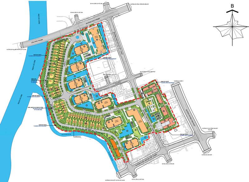 Mặt bằng tổng thể dự án căn hộ Sunshine Quận 7