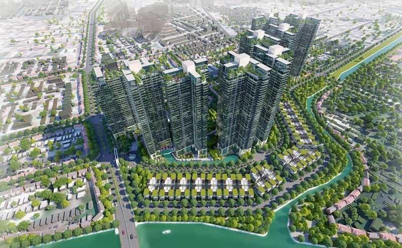 dự án Sunshine Quận 7 nhìn từ trên cao