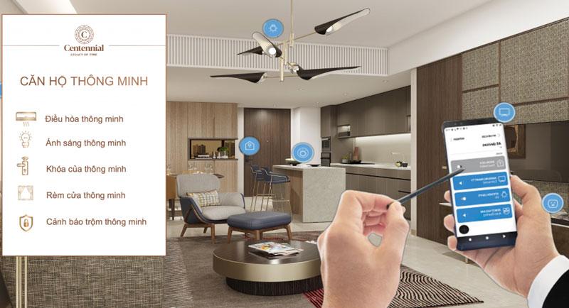The Centennial Bason là căn hộ cao cấp áp dụng công nghệ thông minh