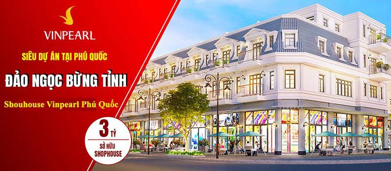 Chỉ từ 3 tỷ sở hữu ngay nhà phố vinpearl shophouse casino phú quốc
