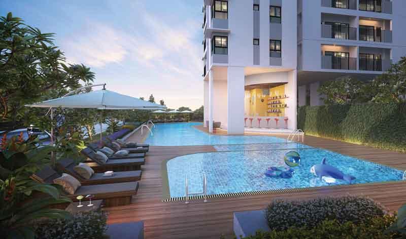 Hồ bơi ngoài trời cao cấp tại dự án chung cư Hausbelo