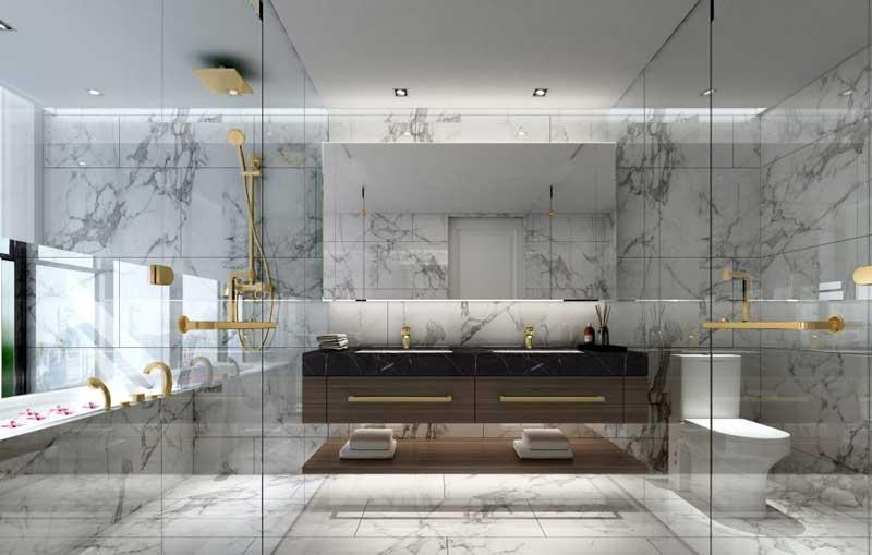 Phòng tắm căn hộ Centennial Alpha King Ba Son