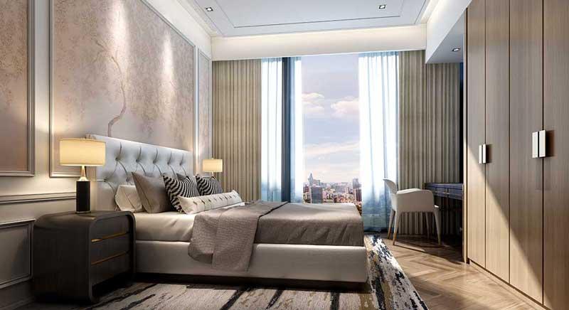 Phòng ngủ căn hộ chung cư cao cấp Centennial Alpha King Ba Son