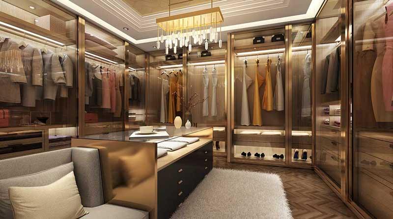 Phòng ngủ thay đồ chung cư cao cấp Centennial Alpha King Ba Son