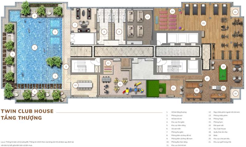 Hệ thống tiện ích dịch vụ tại tầng thượng căn hộ tại dự án Centennial Ba Son Quận 1