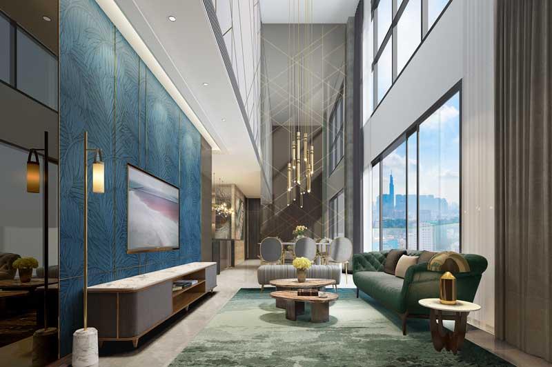 Phòng Khách căn hộ The Marq