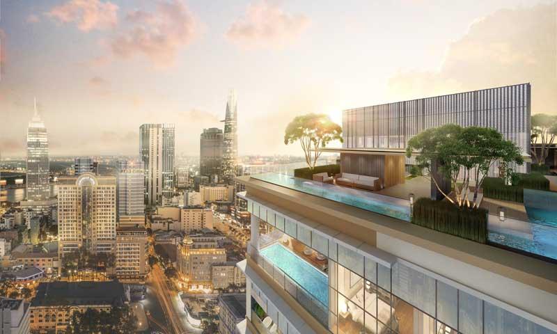 Sky Bar sang trọng trên tầng 26 của dự án Marq Q1
