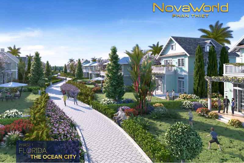Phối cảnh khu biệt thự Novaworld Phan Thiết giai đợt 1