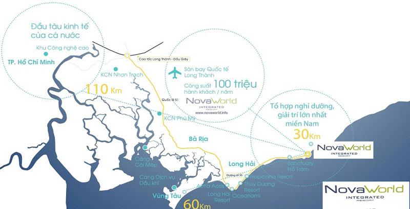 Kết nối giao thông thuận tiện từ dự án Novaworld Bình Châu ở Bà Rịa - Vũng Tàu