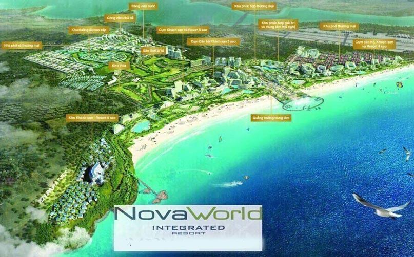 Mặt bằng tổng thể dự án Novaland Novaworld Phan Thiết