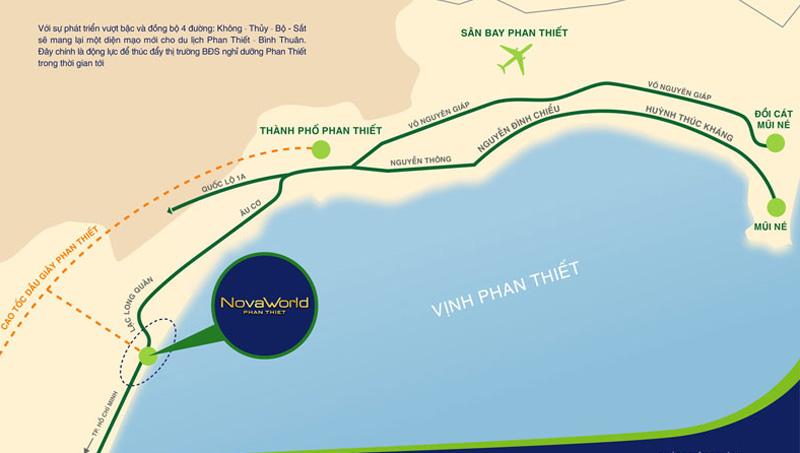 Vị trí quần thể biệt thự biển NovaWorld Phan Thiết
