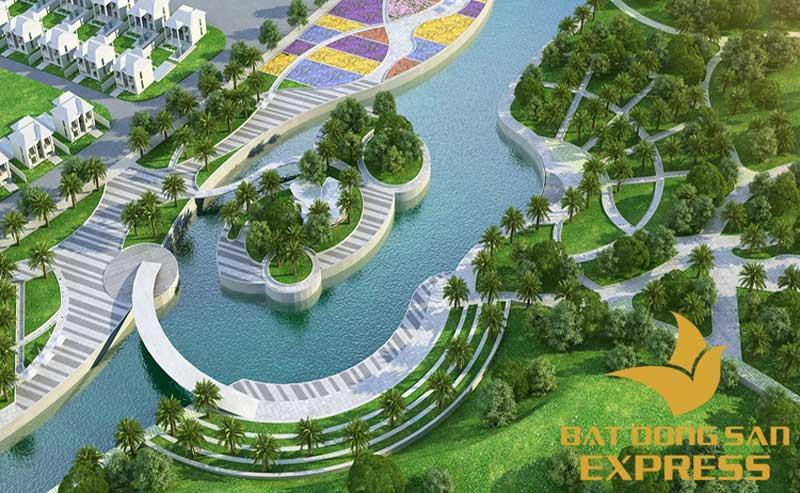 Công viên trung tâm dự án khu đô thị Palm Novaland Q9