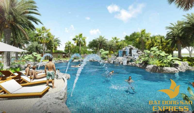 Hồ bơi phong cách Resort tại dự án khu đô thị Palm Novaland quận 9