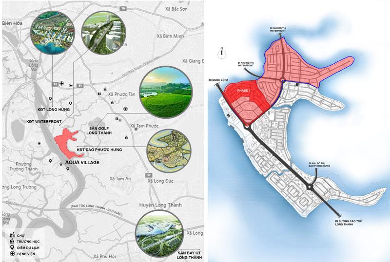 Liên kết vùng thuận tiện từ dự án Aqua City Novaland Long Hưng Đồng Nai