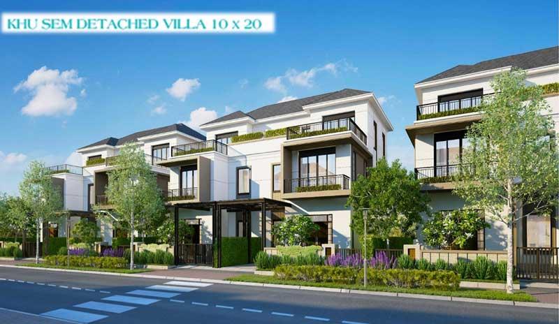 Phối cảnh thiết kế biệt thự villas Aqua City Long Hưng