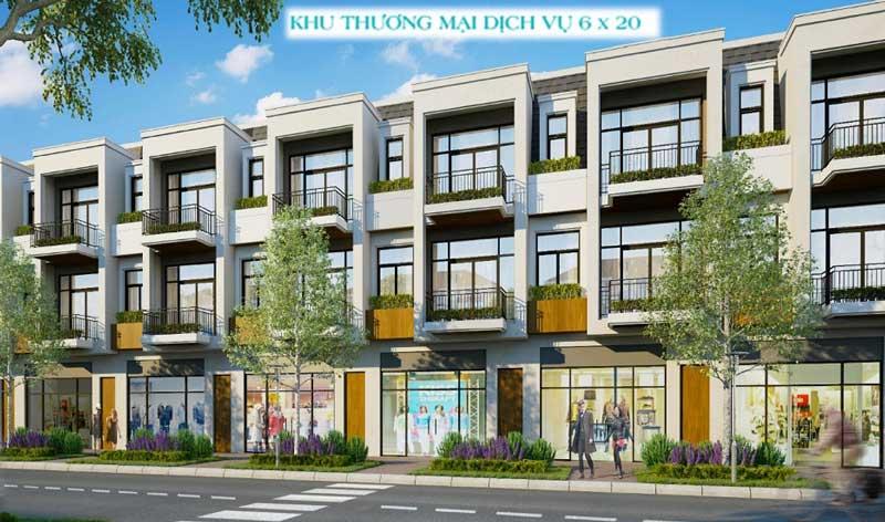 Phối cảnh Shophouse Aqua City Đồng Nai 8x20