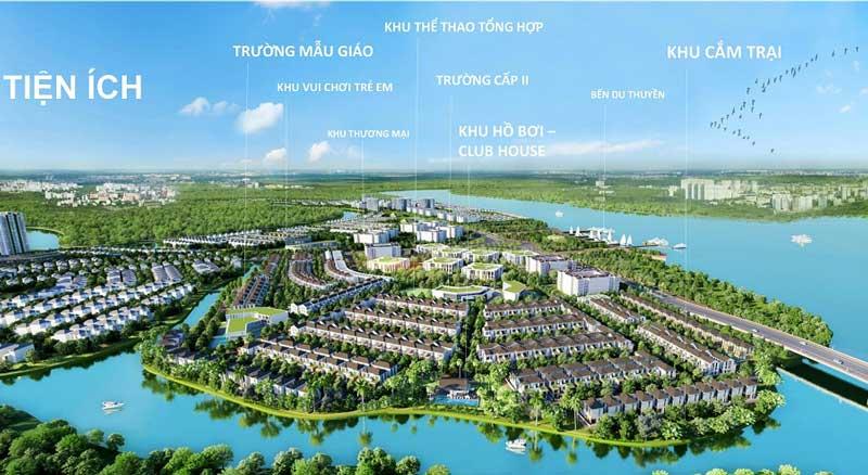 Mặt bằng tiện ích dự án khu đô thị Aqua của Novaland