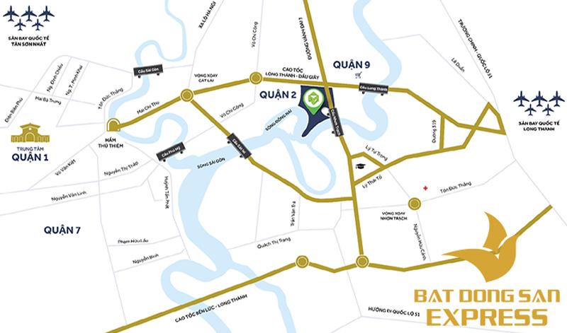 Sơ đồ vị trí & địa chỉ của dự án Palm Marina Novaland Quận 9