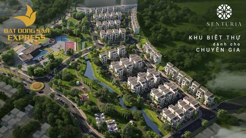 Kiến trúc thiết kế tổng thể dự án khu biệt thự cao cấp Senturia đường Lê Văn Việt Quận 9