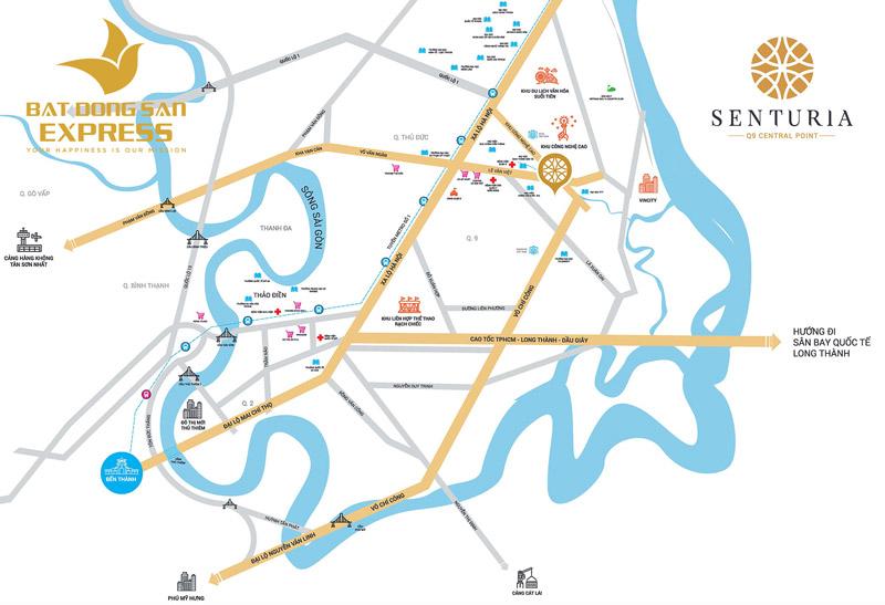 Phối cảnh dự án Senturia Central Point Quận 9 đầy hiện đại và đẳng cấp tọa lạc ngay Lê Văn Việt quận 9