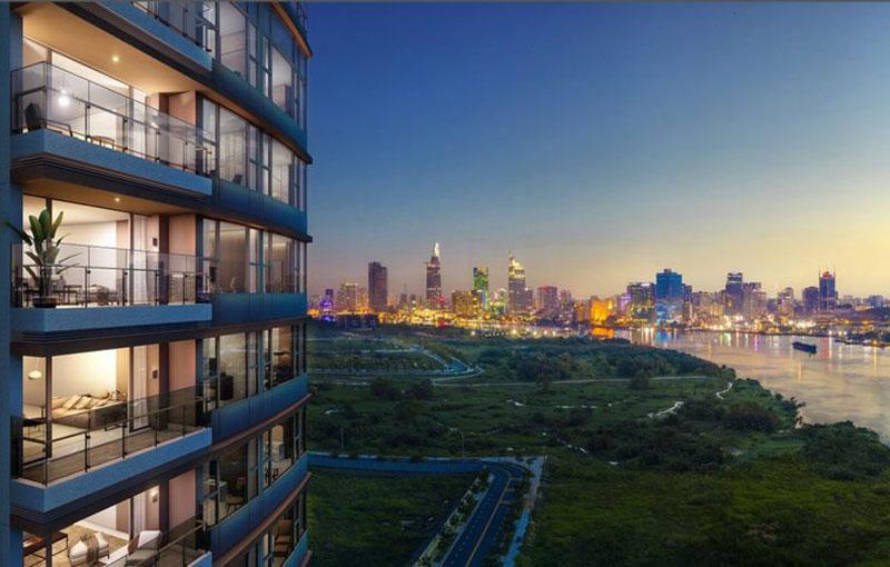 Các căn hộ The River có view nhìn về quận 1 rất đẹp