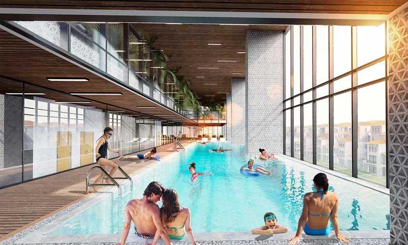 Hồ bơi trong dự án Sunshine Quận 10