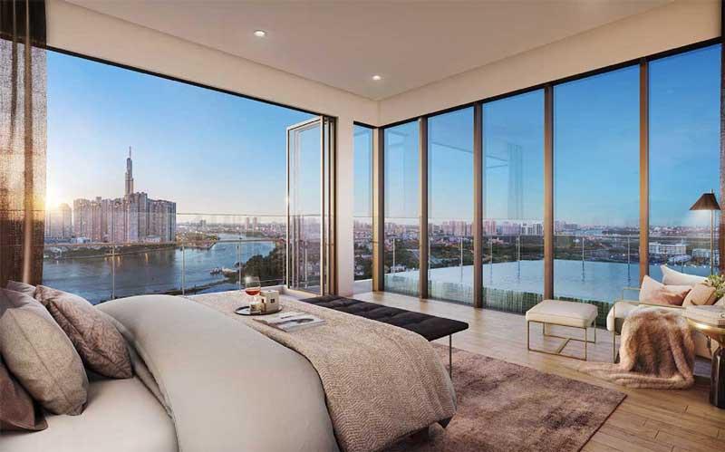 Phòng ngủ căn hộ The River Thủ Thiêm Q2