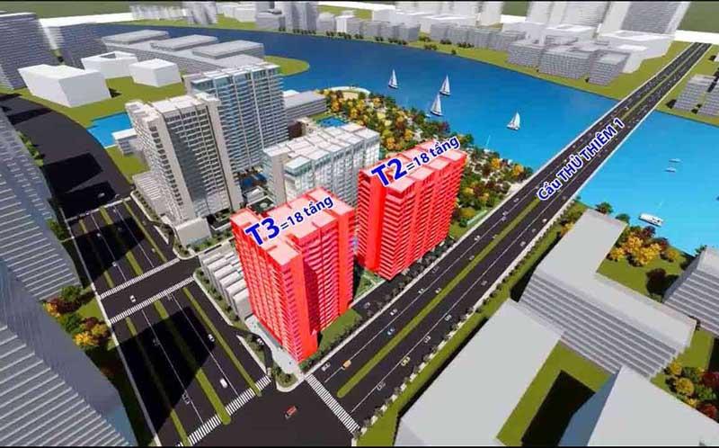 Tháp T2 & T3 dự án The River Thu Thiem
