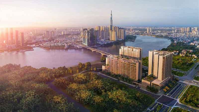 Phối cảnh tổng thể dự án căn hộ The River Thủ Thiêm Quận 2