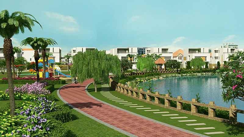 Công viên xây xanh xung quanh hồ trung tâm tại dự án dong tang long quan 9