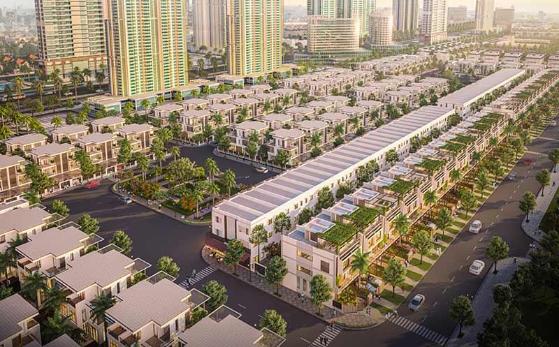 Tổng thể dự án đất nền nhà phố đông tăng long ban ngày