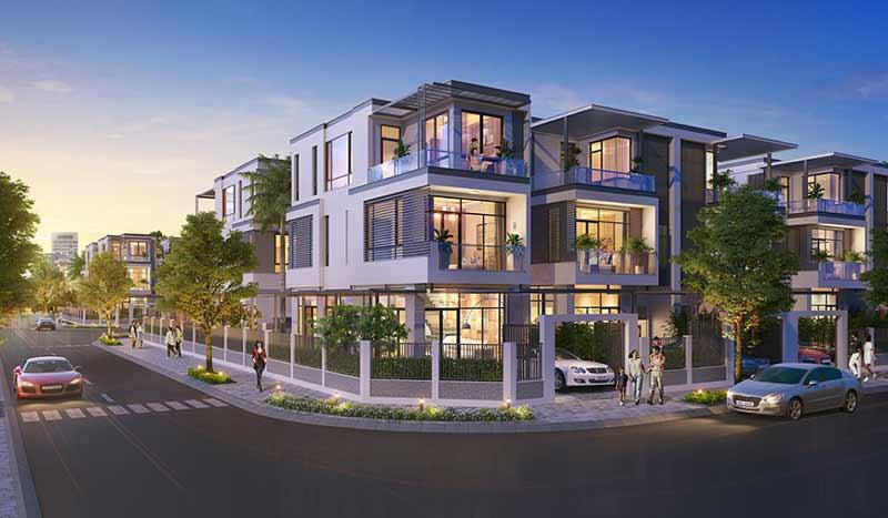 Nhà phố biệt thự đơn lập tai kdt đông tăng long có thiết kế hiện đại