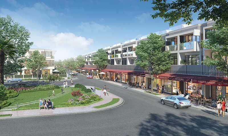 Phối cảnh đất nền nhà phố shophouse dự án KĐT mới đông tăng long quận 9